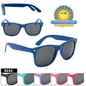 Kids Classic Sunglasses - Style #8243 (Assorted Colors) (12 pcs.)