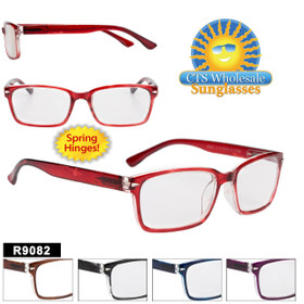 Wholesale Plastic Reading Glasses - R9082 Spring Hinge!