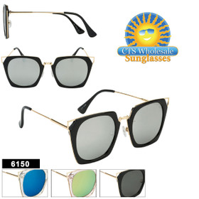 Retro Mirrored Women's Sunglasses - Style #6150