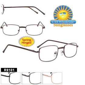 Bulk Metal Reading Glasses - R9101 Spring Hinges!