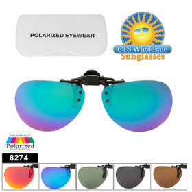 Polarized Clip Ons Flip-up Style 8274