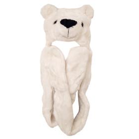 Polar Bear A122 Long Arm Animal Hat
