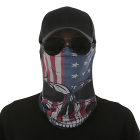 American Flag Skull Design Face Mask UV Protective (6 pcs.)