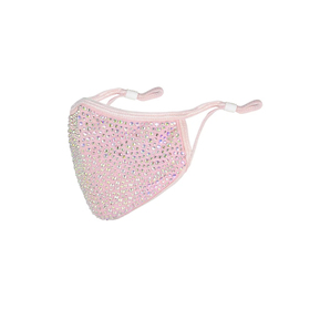 Pink Face Mask with AB Rhinestone (10pcs)