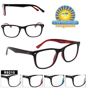 Reading Glasses in Bulk - R9210(12 pcs.) Assorted Colors ~ Lens Strengths +1.00—+3.50