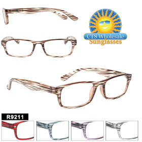 Reading Glasses in Bulk - R9211(12 pcs.) Assorted Colors ~ Lens Strengths +1.00—+3.50