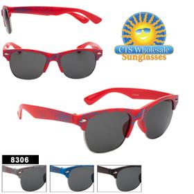 Kids Classic Sunglasses - Style #8306 (Assorted Colors) (12 pcs.)