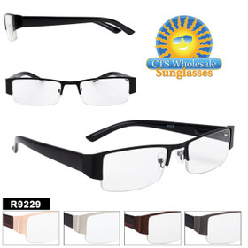 Very smart looking reading glass style!  The thicker temples and half frame style create a very stylish pair of glasses.