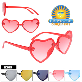 Cute Heart Shaped Sunglasses for Kids!  Comes in 6 great colors to choose from.  This style will not last long!