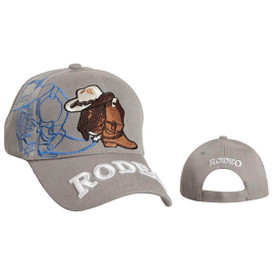 Rodeo Wholesale Baseball Hat-Light Grey