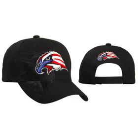 Baseball Cap Patriotic Eagle Head Black