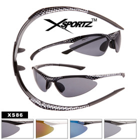 Wholesale Xsportz™ Wrap Around Sports Sunglasses - Style #XS86