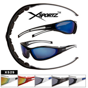 c6ef3871c52 Xsportz™ Wholesale Sport Sunglasses by the Dozen - Style   XS29 Foam Padded  Frames! (Assorted Colors) (12 pcs.)