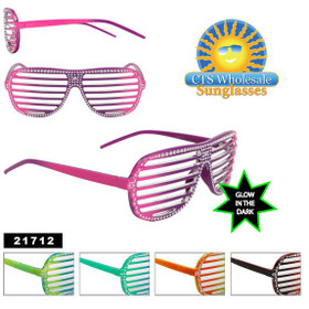 Glow in the Dark Blingy Shutter Shades! 21712