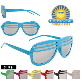 Mirrored Lens Shutter Shades 515