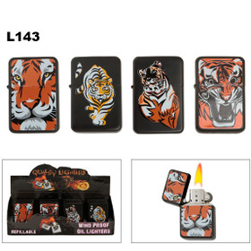 Oil Wholesale Lighters with Assorted Tigers