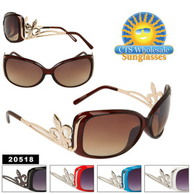 Fashion Sunglasses with Fleur de Lis 20518 (Assorted Colors) (12 pcs.)