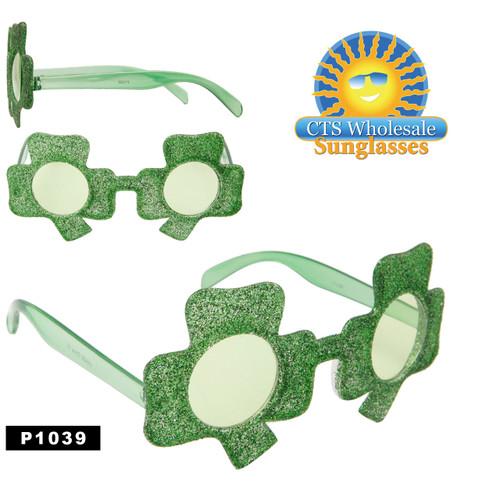 4 Leaf Clover Party Glasses