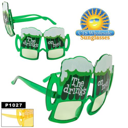 """""""The Drinks On Me!"""" Beer Mug Sunglasses"""
