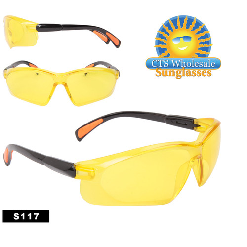 Yellow Tinted Safety Glasses | Driving Glasses S117
