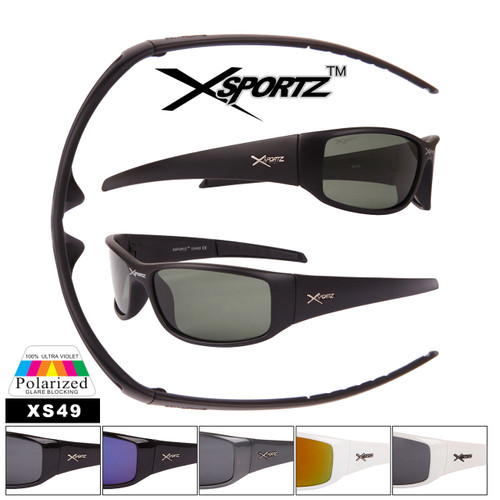 Polarized Sunglasses Xsportz™ Wholesale Sunglasses - Style XS49