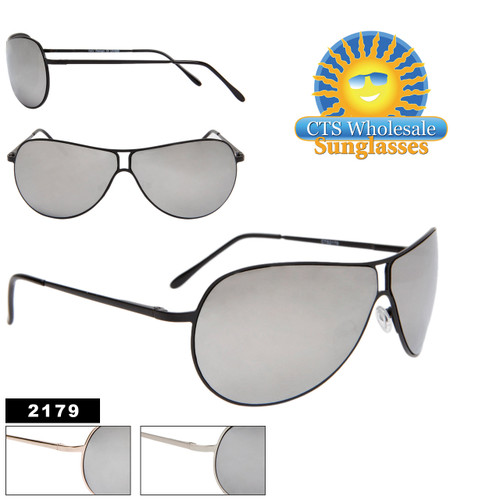 Mirrored Aviators with Spring Hinge Temples 2179