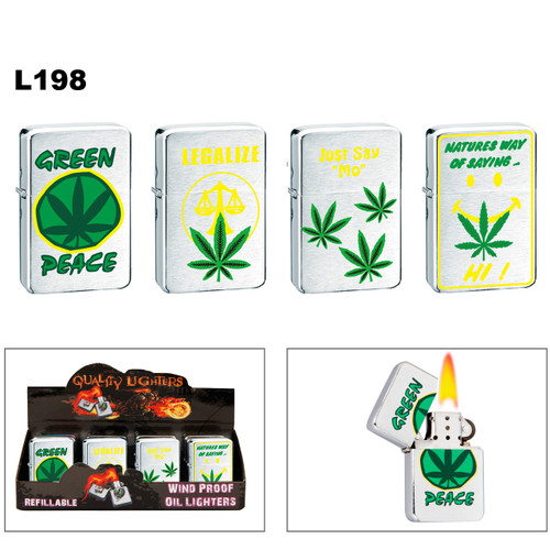 L198 Assorted Pot Leaf Lighters