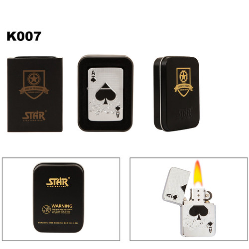 Ace of Spade Brass Lighter K007