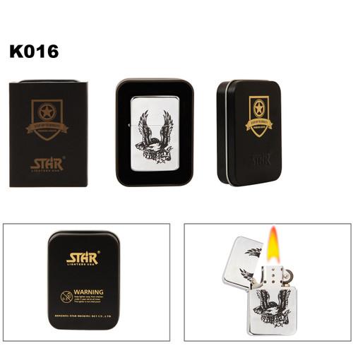 Liberty & Bald Eagle Brass Lighter K016