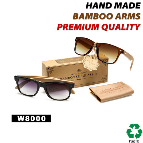 California Classics Bamboo Wood Temples - Style #W8000