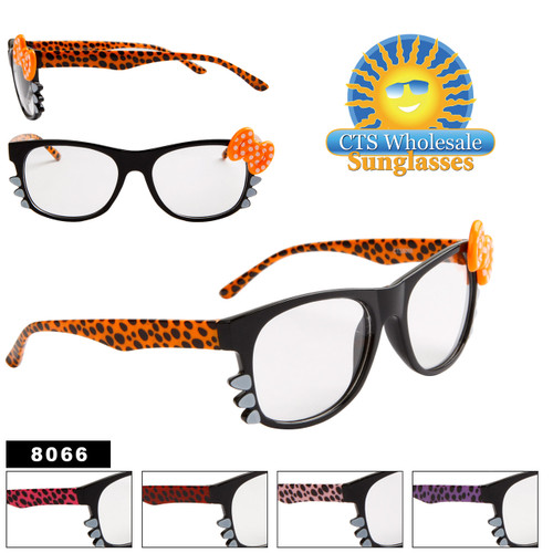 Clear Lens California Classics Wholesale - Style # 8066 Bows & Whiskers!