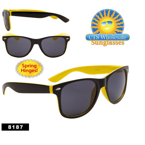 Bulk California Classics Sunglasses - Style # 8187 Black/Yellow