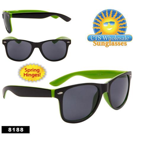 California Classics Sunglasses by the Dozen - Style # 8188 (12 pcs.) Spring Hinge