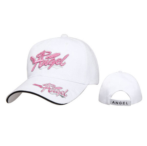 "White Wholesale Women's Baseball Cap ""Angel"""