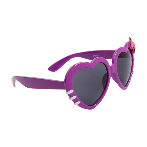 6aa23561c2 Wholesale Heart Sunglasses with Bow   Whiskers - Sunglasses by the Dozen