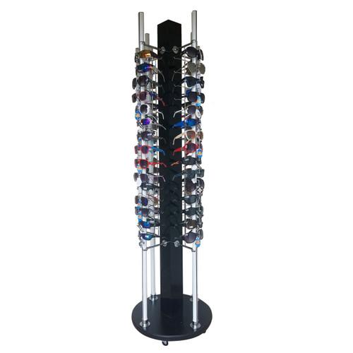 Locking Floor Model Rotating Sunglass Display ~ Holds 60 Pair ~ D5002