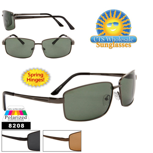 Spring Hinge Polarized Sunglasses 8208