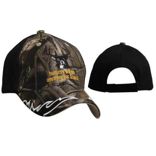 """Hunters will do anything for a buck"" Wholesale Baseball Cap C6009"