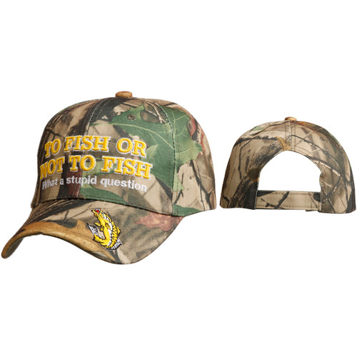 """Wholesale Baseball Cap C6006 """"To Fish or Not to Fish…What a stupid question"""""""