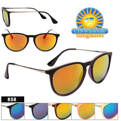 Wholesale Mirrored Sunglasses - Style #858
