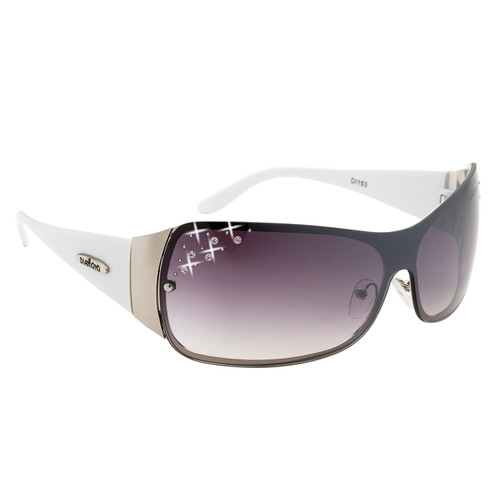 b38b013cd86 ... Diamond™ Eyewear Rhinestone Designer Sunglasses - Style  DI153 White ...