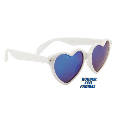 9c77c26509b93 ... Wholesale Heart Sunglasses - Style  6078 White with Blue Flash Mirror  ...