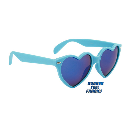 4130fd8e58cab ... Wholesale Heart Sunglasses - Style  6078 Blue with Blue Flash Mirror ...