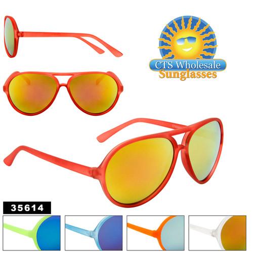Wholesale Mirrored Aviator Sunglasses - Style #35614