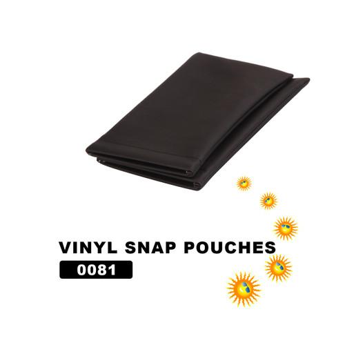 Wholesale Vinyl Snap Pouches ~ Black ~ 0081 (12 pcs.)