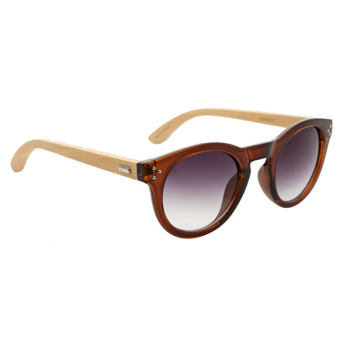 6bfb43beb9bf5 ... Hand Made Fashion Bamboo Wood Sunglasses - Style  W8007 Brown ...
