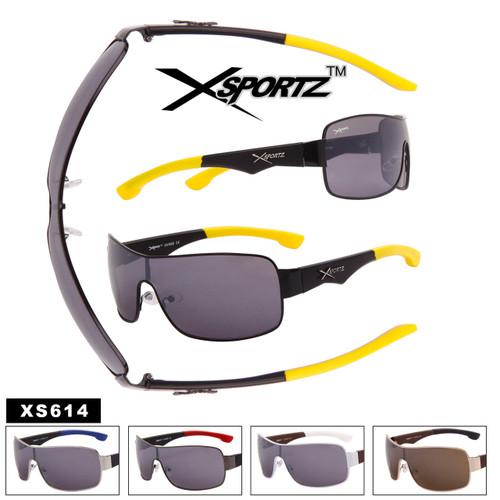 Xsportz™ Men's Single Piece Lens Sunglasses - Style #XS614