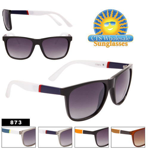Square Textured Temple Sunglasses - Style #873