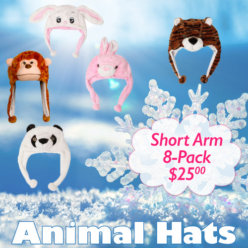 Sample Pack Short Arm Animal Hats