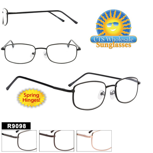 Metal Readers Wholesale - R9098 Spring Hinge Temples